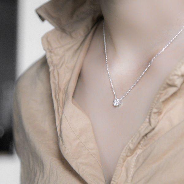 ネックレス | ダイヤライクネックレスLANA(シルバー)